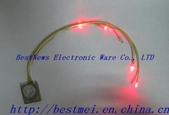 LED flashing slipper with string light/Glowing shoes light