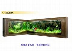 新新水族拐角鱼缸