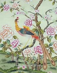 hand-painted silk wallpaper