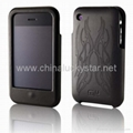 Hard Sheild Leather Case for Iphone 3G