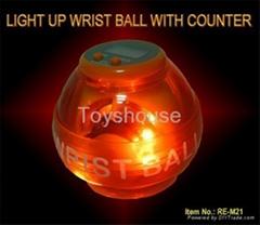 發光手腕球帶電子表