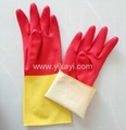 latex household cleaning gloves