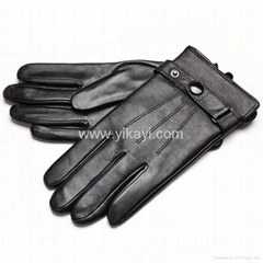 men's goatskin leather gloves