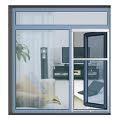 铝合金窗,不锈钢防盗网