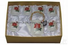 tea sets,8 Jade purpose magnetic, Dehua porcelain
