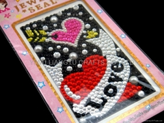 mobile phone sticker,acrylic crystal sticker,rhinestone sticker (Hot Product - 1*)