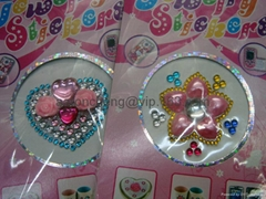 Mobile Phone Crystal Sticker,acrylic crystal stickers,rhinestone sticker,