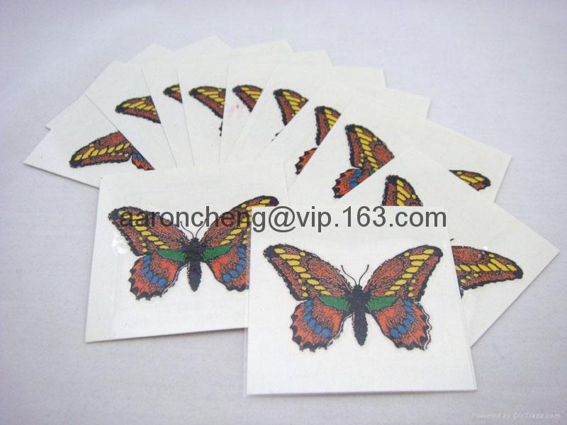 temporary tattoo sticker/nontoxic tattoo stickerutterfly tattoo sticker