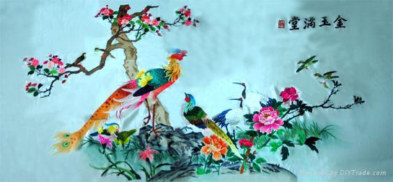 小清新动物刺绣图案