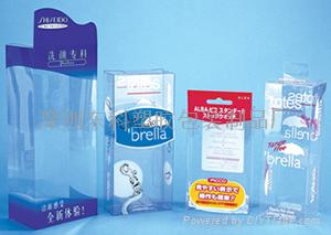 clear gift packaging boxes /PET boxes  1