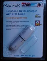 LED电筒手机应急充,用1节电池