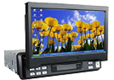 """7"""" Fully-Motorized In-Dash Car TFT-LCD Monitor With TV and Touch Screen for Car 1"""