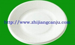 供應8寸圓碟(圖) 紙漿餐具