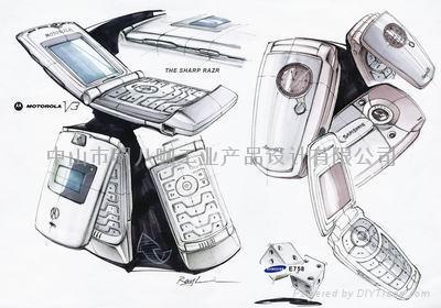 产品表现技法手绘图