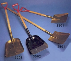 steel shovels. spades