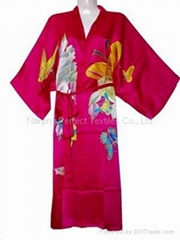 Pure Silk Hand-Painted Kimono, Robes, Silk Garment