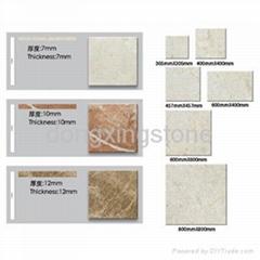 marble compound with tiles,Aluminium Honeycomb,Glass,Aluminium Botton
