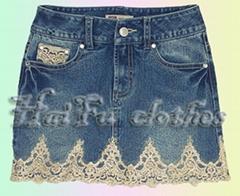 Lightweight-denim skirt