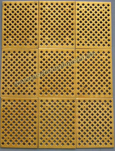 Copper Phosphor Brass Bronze Perforated Metal Harmony