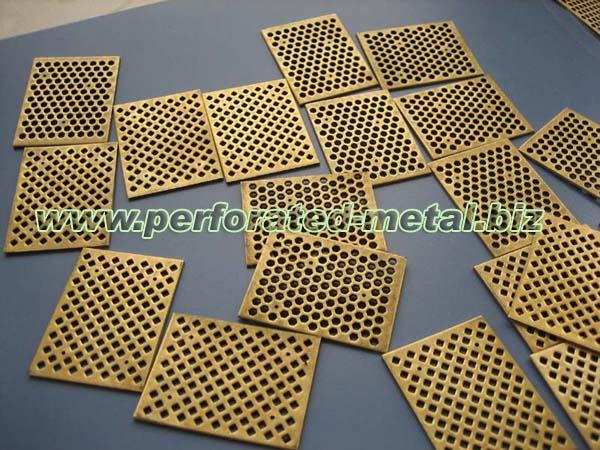 Copper Phosphor Brass Bronze Perforated Metal Harmony