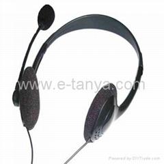 Computer headphone with microphone