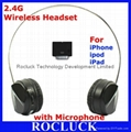 2.4G Wireless Headset with Microphone I308 for Apple