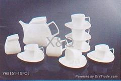 coffe cup,tea pot,milk cup,sugar cup