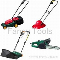 Series Garden Tools - Mower, Raker, Chain Saw