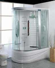 Bathroom,showerroom,bathtub,panel,glassbasin