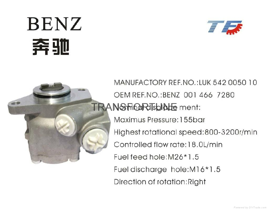 Brand New Steering Pump BENZ 0014667280