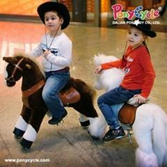 PonyCycle ride on plush animal toy