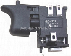 Variable Speed Power Tool Switch 25A 36V