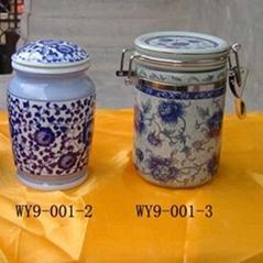 Ceramic Sealed Jars Set/2