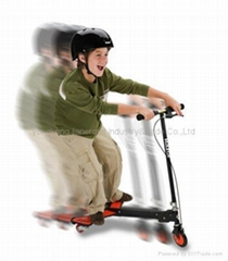 Surfing tri-scooter