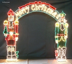 Metal Decoration with Mini Lights