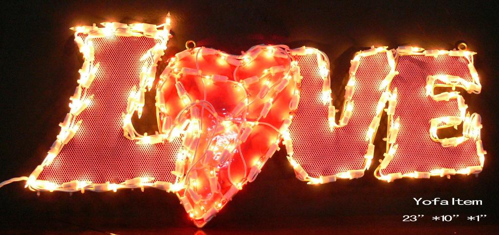 Valentine Metal decoration with mini lights - Yo-fa (China ...