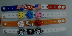 silicone bracelet with decoration