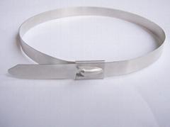 珠式自锁不锈钢扎带