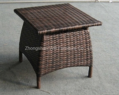 chestnut wicker coffee table