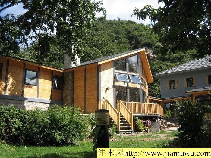 木结构高档欧式木屋别墅图片