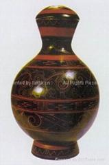 Chinese Antique Gift Lacquerware (Cloud & Phoenix Vase)