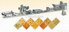 Screw/ shell/ crisp pea puffed fried food production line