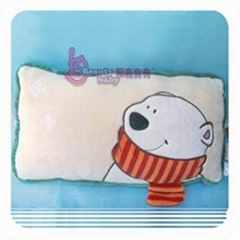 Nici Red-scarf Pearl Bear Pillow