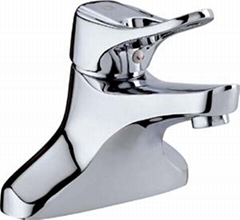 Double hole basin faucet
