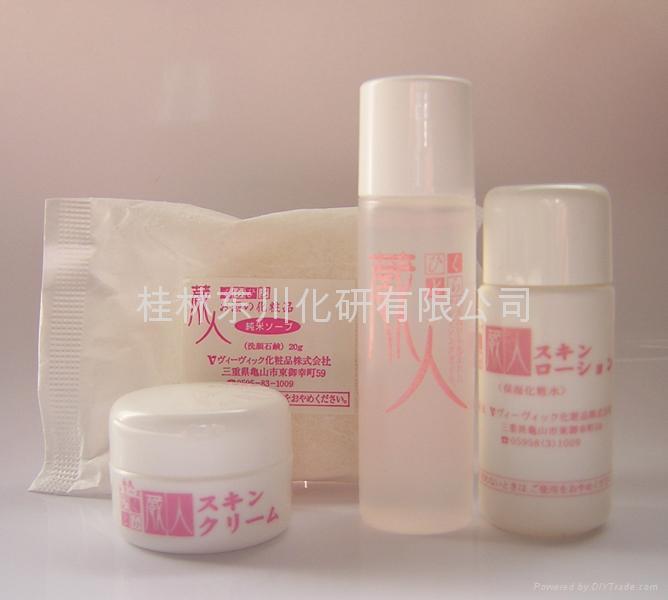 tester set(cleansingoil,pure soap,skin lotion,skincream) 2