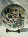 Display plate-flower and birds