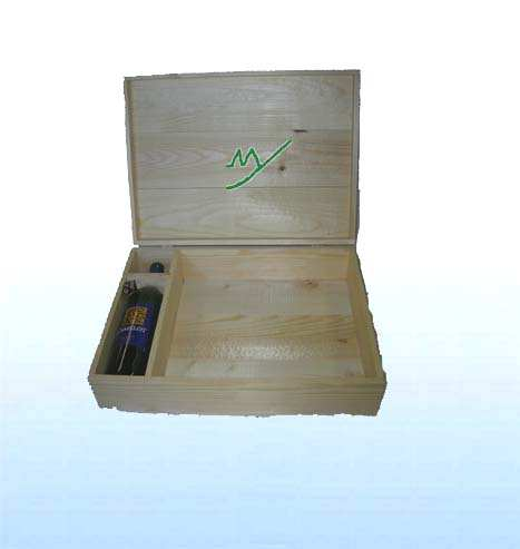 wooden wine boxes ( MY20-1002) - One bottle  wine boxes 1