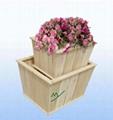 wooden box ( MY11-1086) - wooden flower