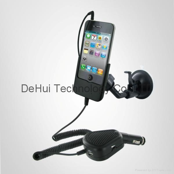 Car Mount cradle with handsfree for Iphone 4 - DH-CMCH-IP4 (Hong Kong