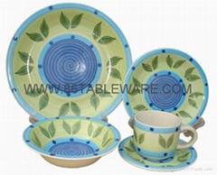 stoneware handpainted 20pc dinner set